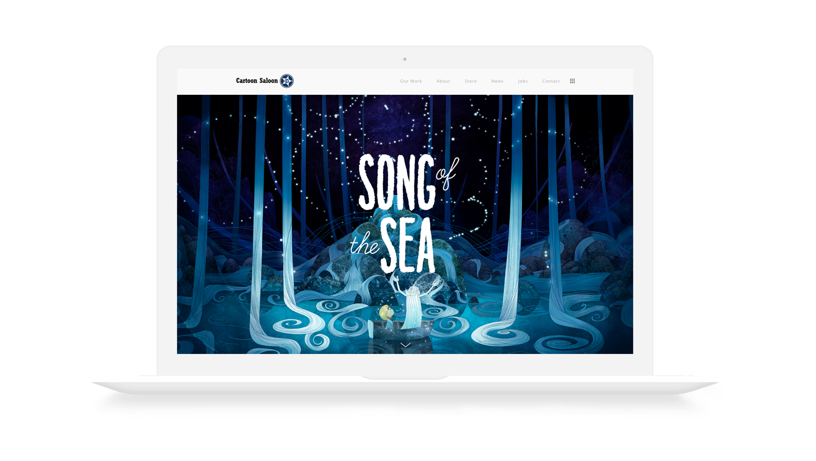 song of the sea cartoon saloon web design