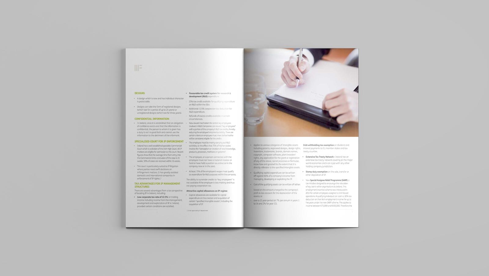 william fry brochure graphic design