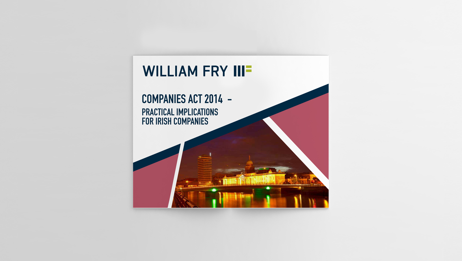 william fry brochure graphic design